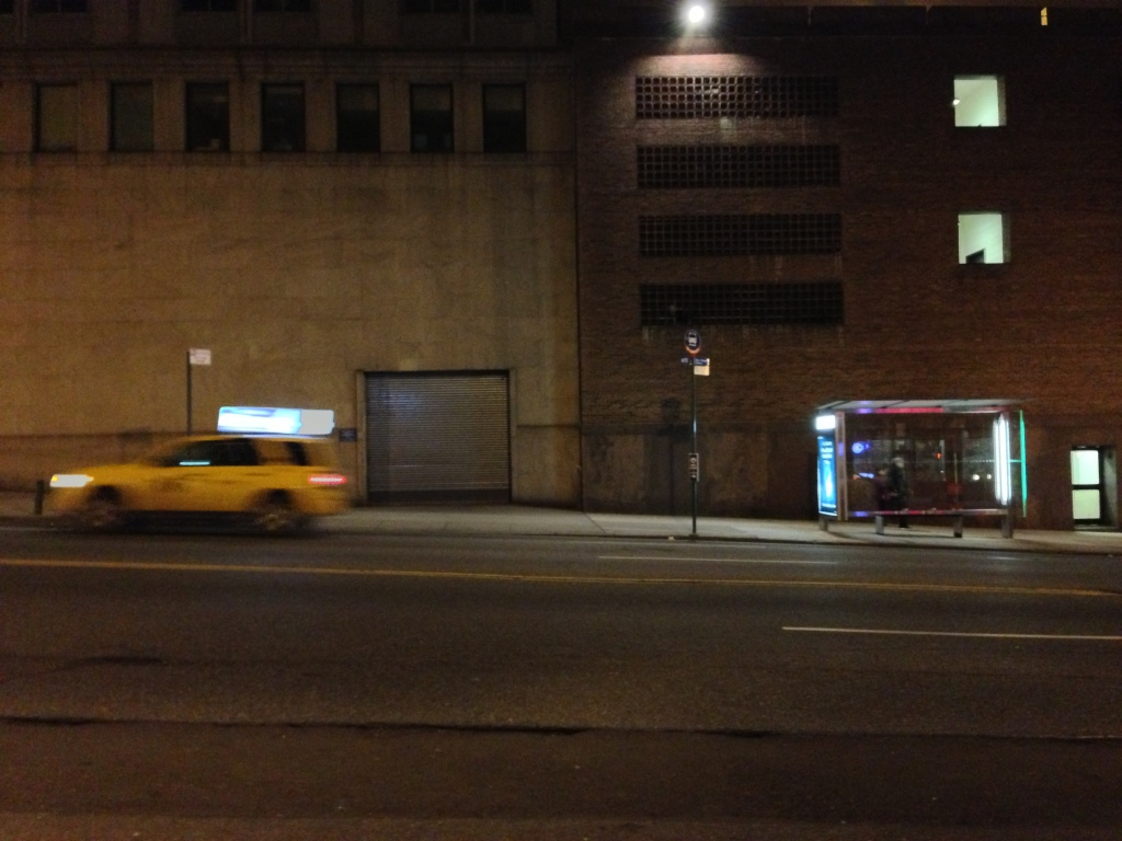 Broadway, between West 118th and West 119th Streets. New York, NY. Wednesday, December 12, 2012, 12:05 AM EST.