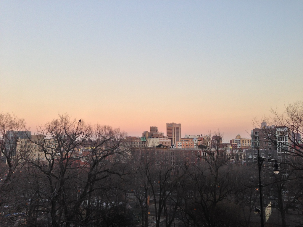 View over Morningside Park. New York, NY. Thursday, December 13, 2012, 4:25 PM EST.