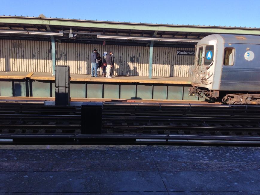 Rockaway Boulevard Station. Queens, NY. Friday, December 28, 2012, 1:59 PM EST.
